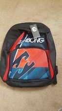 BILLABONG RED AND BLACK  FLAIR BACKPACK  SPORTS GYM SCHOOL