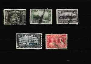 #3884=Canada used selection of different early commemorative stamps