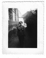 """Foto, Soldat in Uniform, Mütze, Abzeichen, """"Feldwebel Franz"""""""