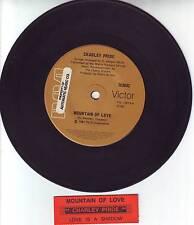 "CHARLEY PRIDE Mountain Of Love 7"" 45 rpm vinyl record + juke box title strip"