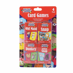 Children's Playing Cards Games Playing Snap Donkey Fun 4 Pack For Kids & Family