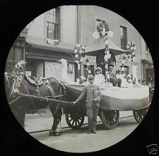 Glass Magic Lantern Slide VICTORIAN CARNIVAL FLOAT NO2 C1900 ENGLAND PARADE