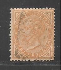 Italy #27 (A8) VF USED - 1863 10c King Victor Emmanuel II - SCV $5.50