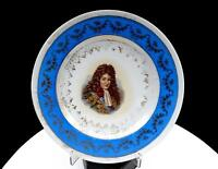 "VICTORIA AUSTRIA CARLSBAD DUFORE SIGNED GRAND DAUPHIN BLUE AND GILT 8 3/8"" PLATE"