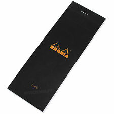 Rhodia Shopping List Refill Pad Black Lined Notebook Shopper Note Memo Jotter