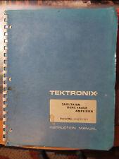 Tektronix 7A18 Dual Trace Amplifier Plug-In manual. WORLDWIDE SHIPPING.