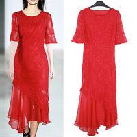 New Women Ladies Evening Party Asymmetrical Dress AU Size 12 14 16 18 20 22 8651