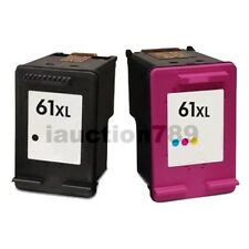 2 Pk Ink Cartridges For HP 61 XL Envy 4500 4504 5530 Officejet 2620 4630 printer