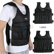 20KG Adjustable Weight Vest  Fitness Weight Training Workout Boxing Jacket