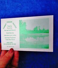 c.1960-70's SANDY CEDAR HAVEN, Norm Baker, FREEPORT, MAINE: Vintage Camp Ad Card