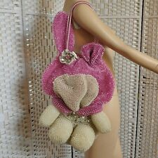 Anteprima Hello Kitty My Melody Wire Purse Bag Sanrio X Large Pink White Crystal