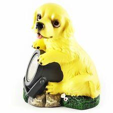Wichtelstube Kollektion Solarhund Hund mit Solarlampe Solarfigur für Garten