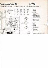 Service Schema für Telefunken Magnetophon 96