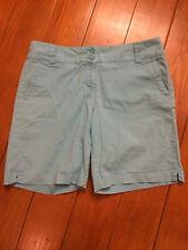 "New York & Company Womens Manhattan Chino 8.5""in seam Shorts -light blue-Sze10"