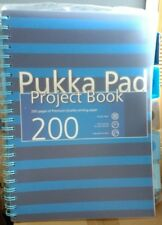 Pukka Pad A4 Project Book 200 Pages With 5 Dividers - Navy NEW RANGE - Notepad .