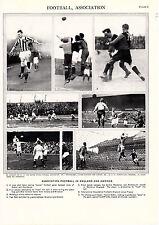 Association Football in England & America. Scarce Informative Print circa 1930s