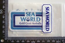 VINTAGE SEA WORLD GOLD COAST EMBROIDERED SOUVENIR PATCH WOVEN CLOTH SEW-ON BADGE