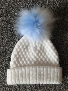 Baby Boys Pom Pom Hat 0-12 Months Excellent Condition