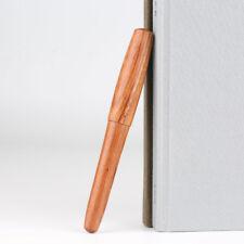 Handmade Nature RedWood Fountain Pen Wood Cap Extra Fine Nib 0.38mm Writing Gift