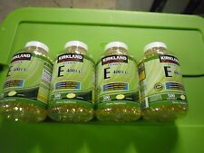 New ! 4 X 500 Softgels Kirkland Signature Vitamin E 400 IU 98211 L125