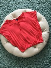 American Eagle Outfitters Women's Size XS Orange Round Slip Sleeve Top A-3