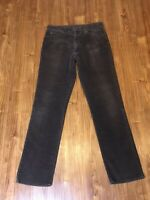 Vintage LEE Riders Brown Corduroy Jeans Pants 35x34 USA Union Made