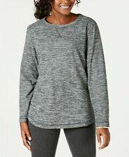 BRAND NEW Karen Scott Space-Dye Microfleece Sweatshirt Grey XS UK 8 - RRP 29.50