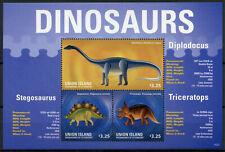 Union Island Gren St Vincent Dinosaurs Stamps 2014 Mnh Diplodocus 3v M/S Ii