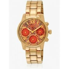 *NEW* GUESS LADIES W0448L7 GOLD RED DETAILS WATCH - 2 YEARS WARRANTY
