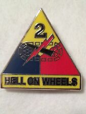 "US Army 2nd Armored Div ""Hell on Wheels"" Pin"