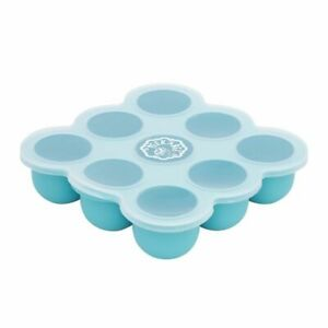 Peekabee Silicone Freezer Pod Food Storage Tray With Lid Wean Baby - Sky Blue