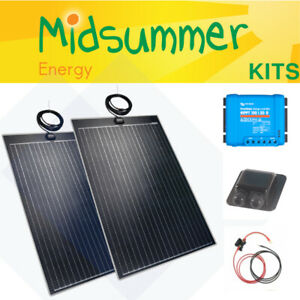240W (120W+120W) Lightweight Solar PV Panel Charging Kit - Smart MPPT - Cables