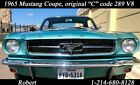 """1965 Ford Mustang original """"C"""" code with 289 V8 1965 Ford Mustang original """"C"""" code with 289 V8 3656 Miles Blue Coupe V8 4.7L Au"""