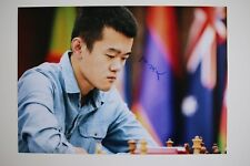 Gm cosa liren 丁立人 signed 20x30cm foto autógrafo Autograph ip4 Grandmaster Chess