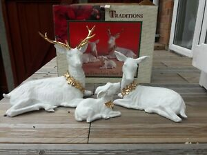 Christmas Traditions 3 Piece Porcelain Deers