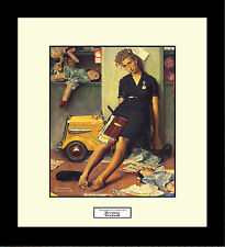 Norman Rockwell TIRED SALESGIRL ON CHRISTMAS EVE Framed Merchant Store Wall Art