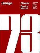 1973  73   DODGE CHALLENGER/CHARGER/DART SHOP/BODY MANUAL