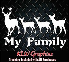 My Deer Family 2* Vinyl Decal Sticker Truck Car Hunting Diesel 4x4 Home Bow 1500