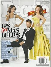 People magazine 50 most beautiful Ricky Martin Zoe Saldana Thalia Alicia Machado