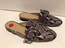 Michael Kors Cooper Slide Leather Python Print Flats Mules Loafers 6.5 M/ 36.5