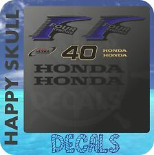 Honda 40 hp Four Stroke outboard engine decal sticker set reproduction