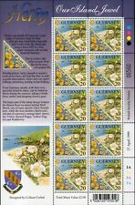 More details for 1999 guernsey sg 833/836 europa. parks and gardens. herm island full sheets
