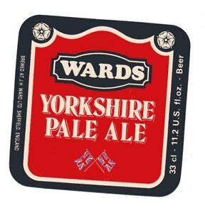 OLD BEER LABEL/S  - UK - WARDS YORKSHIRE PALE ALE STICKER