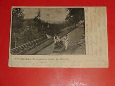 ZS602 Vintage 1908 Postcard No.8 Madeira Elevador E Carro Do Monte Railroad Car