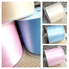 Baby Blue, Pink or Ivory 100mm Satin Ribbon Baby Shower Nappy Cake Christening