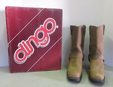 Dingo Boots Ladies Brown Crazy Horse D17376 Size 10M Harness Strap Motorcycle