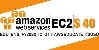 AWS $40 Code Amazon Promocode Credit Web Services IC_Q1_1