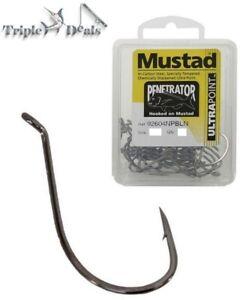 1 Box of Mustad Penetrator 92604NPBLN Chemically Sharpened Suicide Fishing Hooks