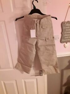 Girls Chino Trousers Beige Age 7 Brand New With Tags Elastcated/Adjustable Waist
