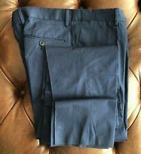 NEW HACKETT London Men/'s Navy Luxury Brushed Cotton Pants Trousers $195 34 x 36